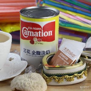 雀巢三花全脂淡奶410g 炼乳奶茶烘焙食品甜品饮料全脂淡奶批发