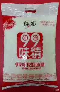 批發供應99梅花味精2kg餐飲裝無鹽味精 廠價直銷
