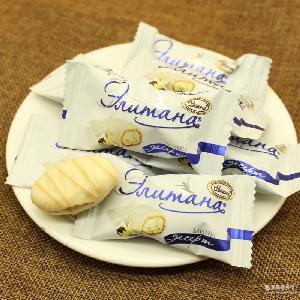 夹心巧克力糖 俄罗斯进口糖果 批发 坚果牛轧糖 椰蓉派糖