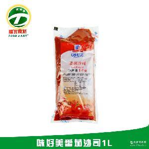 【福玛食材】味好美番茄沙司12*1L 餐饮包装 薯条蘸料调味酱