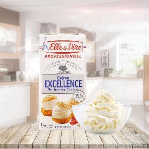 法国进口 铁塔淡奶油1L*12 裱花烘焙原材料 爱乐薇动物性淡奶油