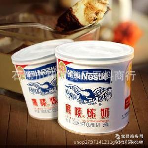 甜點蛋撻沖調飲品奶茶材料 蛋糕面包烘焙材料 雀巢鷹嘜煉奶350克