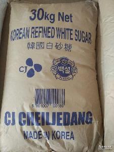 30kg袋装 货柜上海免运费 进口食用韩国精制细砂白糖批发