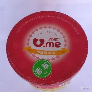批发供应 雅蜜香草口味大桶装冰淇淋4千克 多种口味餐饮大桶装