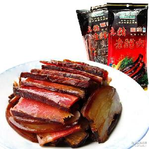 四川煙熏臘肉 成都特產桂花莊老臘肉500g 五花肉