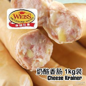 德寶懷特兄弟WEISS爆漿奶酪腸1kg-12支裝德國奶酪香腸批發