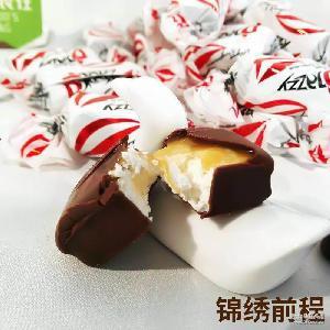炼乳夹心巧克力糖 休闲零食批发 俄罗斯进口Djazzy白爵士巧克力