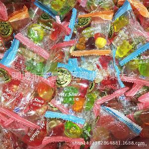 婚庆糖果水果橡皮糖批发年货  喜糖 徐福记果汁软糖500G 正宗