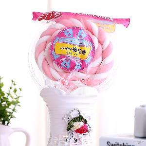卡力多棉花糖批发棒棒糖果60g情人节婚庆创意糖果零食12支/盒厂家