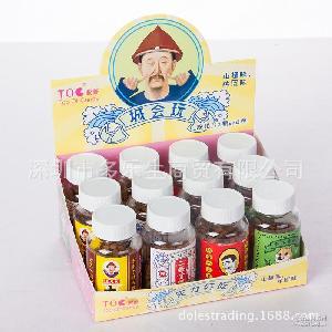12瓶/盒 批发脱普陈皮糖果汁软糖 50g搞笑段子手糖果暴走吧城会玩