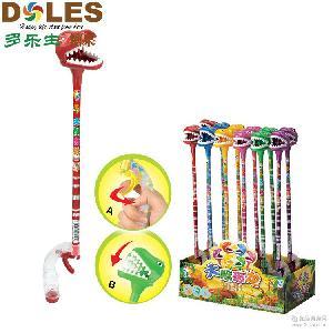 爆款批发小乐蜂大嘴恐龙糖果玩具儿童玩具糖果汕头糖玩12支/盒