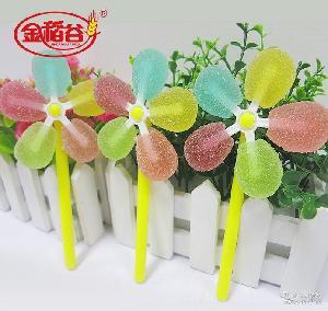 会转的七彩风车 糖果 金稻谷 可爱好看 送礼 风车果胶软糖 25g