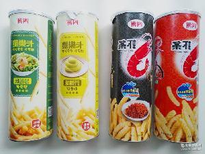 【四洲】 罐装虾条70g 卡乐脆60g 特色膨化零食
