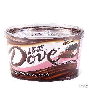 德芙什锦味巧克力249g盒装德芙碗装