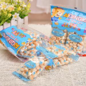 台湾进口食品爱请客小馒头饼干150g袋装儿童休闲膨化零食爆款批发