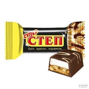亮晶花生夹心糖果 俄罗斯进口糖果现货供应直销 休闲零食品批发