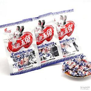 乐潮乐巢玉兔奶糖牛奶味糖果喜糖大白兔童年零食糖果18g