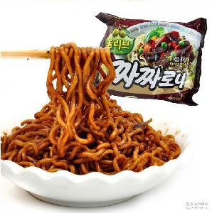 韩国进口食品方便面 三养炸酱面鸡肉味拉面拌面速食泡面140g*5包