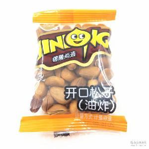独立小包称重零食一袋5斤 锦隆开口松子油炸