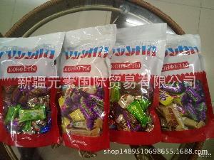 果味夹心巧克力糖混装糖果进口特产喜糖批发 俄罗斯进口糖果果仁