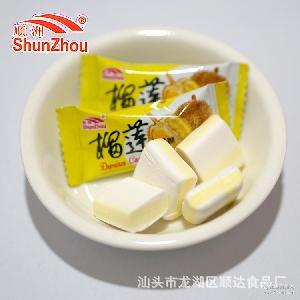 榴莲味奶糖香浓软滑入口香甜2500克袋装批发糖果一件4包厂家直销