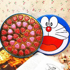 巧克力36颗机器圆铁礼盒生日礼物礼品零食送女友情人节圣诞节