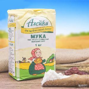 袋装1kg馒头面包高筋饺子粉批发 俄罗斯进口艾利客高筋小麦面粉