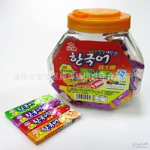 康剑大猩猩瑞士糖水果味软糖果儿童怀旧零食品喜糖 10瓶*60条*18g