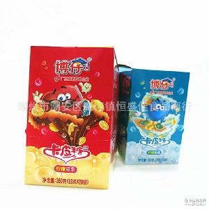 汽水味硬糖脆皮夹心水果味糖果儿童零食品 博仔卡皮糖 12盒*20板