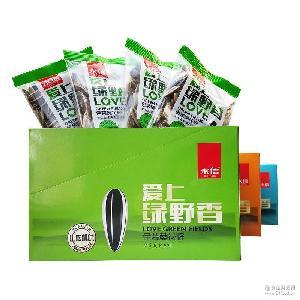 盒 永信绿野香金装葵瓜子838g 30小包独立小包装