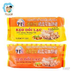 越南进口 220g  花生香酥糖 35包一箱 金姑牌脆皮花生酥糖