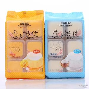 佐佐果凍192g戀上奶優布丁甜品果凍椰奶草莓味袋裝休閑零食品批發