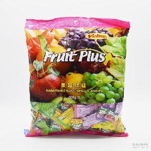 马来西亚进口零食Fruit Plus果超软糖散装儿童喜糖果500g一袋
