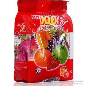 批发马来西亚进口糖果零食百分百多种水果软糖果什味软糖150g