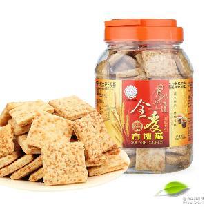 台湾进口休闲零食品批发好乔牌台湾好味道全麦方块酥500g混批代发