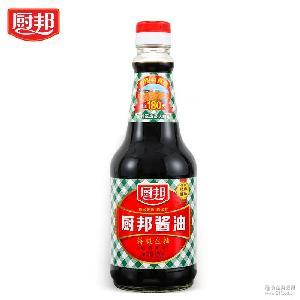 厨邦酱油820ml天然鲜非转基因黄豆生抽调料酿造酱油凉拌调味料