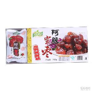 冬枣之乡260g阿胶蜜枣小食品盒装去核鲜枣制作特产零食