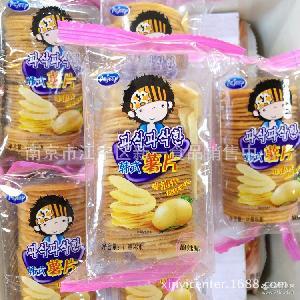 韩式薯片非油炸 普通型韧性饼干 一箱9.8斤