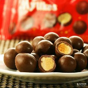 梁丰麦丽素牛奶巧克力25g*48 代可可脂巧克力 儿童休闲零食品批发