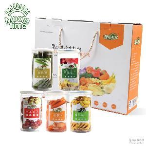現貨一件代發 休閑零食果蔬干 微商零售 綜合蔬果6盒裝大禮盒
