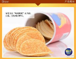 休閑零食 膨化薯片吃的美食微商火爆食品包郵 可比克薯片105g