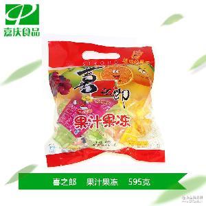 兒童零食 喜之郎果汁果凍495g+100g吸的果凍一支 批發