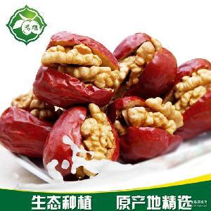 红枣夹核桃 厂家批发 优质枣核桃500g 休闲零食枣夹核桃品质保证