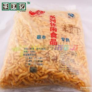 彩宝食品 W进口休闲零食品批发 香辣味膨化食品整箱批发 虾条