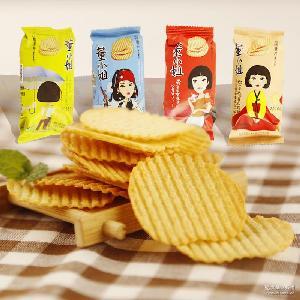 小王子董小姐烤薯片非油炸36g休闲膨化小吃办公室零食