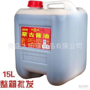 厂家直销 蒙古酱油 正品韩国风味小伙子牌蒙古酱油15升 餐饮专用