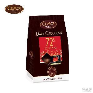 法国进口赛梦黑巧克力纯可可脂72%/85%迷你排块150g袋装