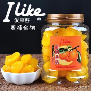 批發香港進口休閑零食品愛萊客蜜煉金桔210g罐裝涼果蜜餞果脯果干