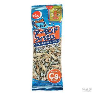 日本进口小鱼干 天六杏仁小鱼干24g 零食批发