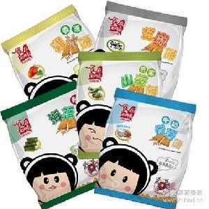 多味膨化小吃 臺灣進口零食品 好吃的鍋巴 食在好味餅干70克x12袋